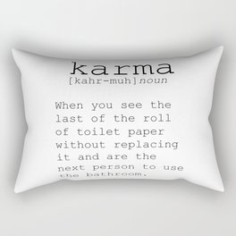 Funny Definition Of Karma Funny Quote Funny Wall Art Printable Wall Art Typography Print Comic Quote Rectangular Pillow