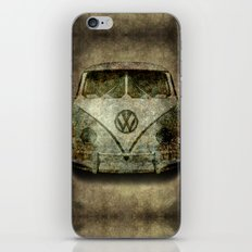 Classic micro bus with battle scars and distressed patina iPhone & iPod Skin