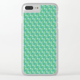 Butterfly Floral Pattern Clear iPhone Case