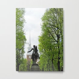 Revere and the Old North Church Metal Print