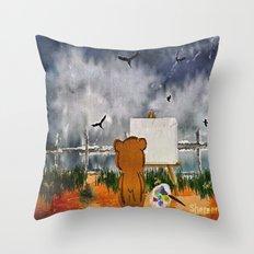 Inspiration in progress Throw Pillow