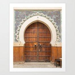 Doorways - Fes, Morocco Art Print