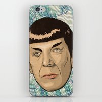 spock iPhone & iPod Skins featuring Spock by Mimi
