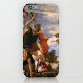 "Veronese (Paolo Caliari) ""Sacrifice of Isaac"" iPhone Case"