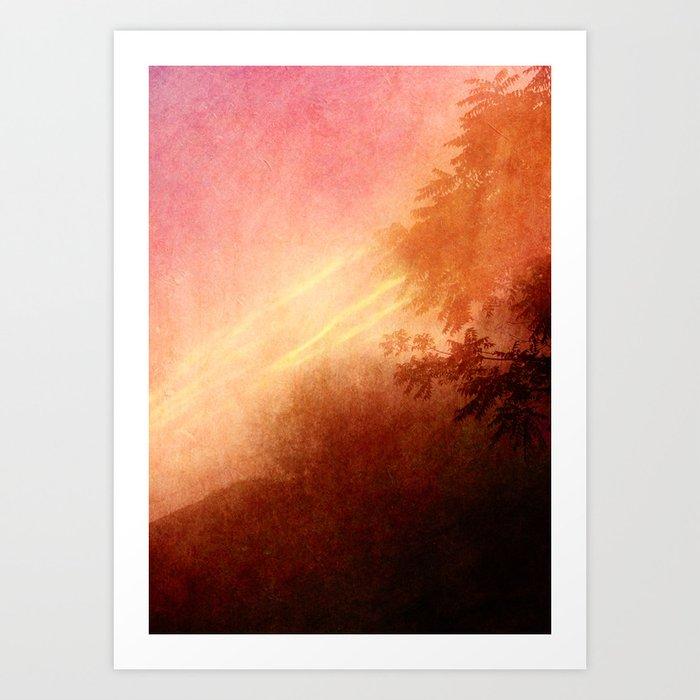 As the clouds above drift Art Print