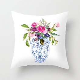 Whimsical Chinoiserie - Number 2 Throw Pillow