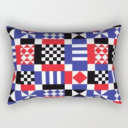Sixties Geometric Rectangular Pillow