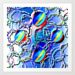 Beach Balls Art Print