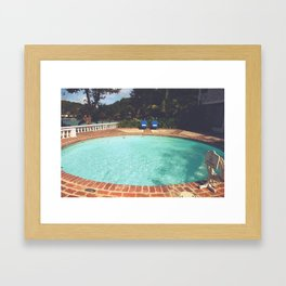 Two Chairs at the Pool Framed Art Print