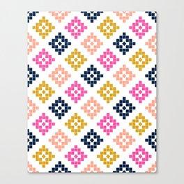 Southwest - native aztec geometric pattern print desert tribe festival clothes coachella  Canvas Print