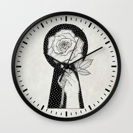 The Rose and the Key Wall Clock