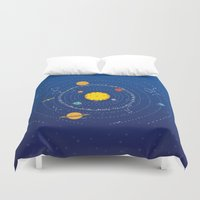 solar system Duvet Covers featuring Solar System by Lalu