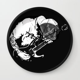 ·the guitarist Wall Clock