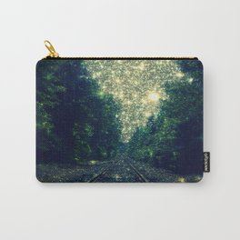 Dreamy Train Tracks Carry-All Pouch