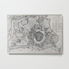 Vintage Map of Vienna Austria (1780) Metal Print