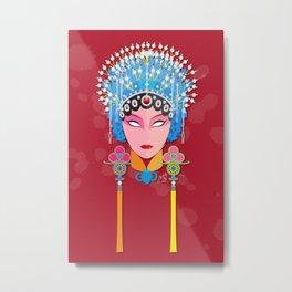 Beijing Concubine Metal Print