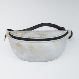 White Cherry Blossom Photo   Plantlife Photography   Atmospheric Blossom Close-up Fanny Pack