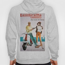 1963 Lambretta Innocenti Motor Scooter Advertisement Poster Hoody