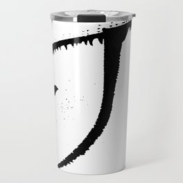 Letter J Ink Monogram Travel Mug