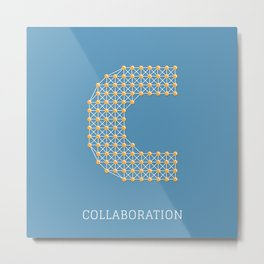 Collaboration Metal Print