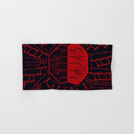 Quantum Computing | Red and Black | HODL Collection 2020 Hand & Bath Towel