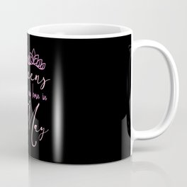 Queens are born in May birthday celebrations pink Coffee Mug