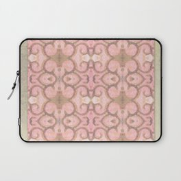 Moroccan Scroll Swirl Modern Pattern in Pink and Cocoa Laptop Sleeve