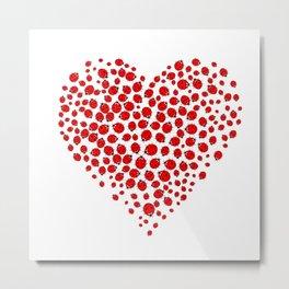 Ladybug heart Metal Print