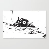 converse Canvas Prints featuring CONVERSE by PixelRiff