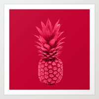 pineapple Art Prints featuring Pineapple by Simi Design
