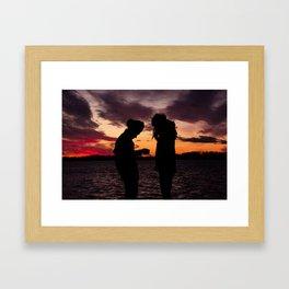 BEDOUIN SUNSET II Framed Art Print