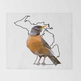 Michigan – American Robin Throw Blanket