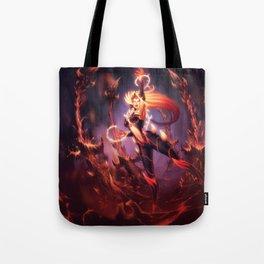 Wildfire Zyra Splash Art 4k HD Wallpaper Official Artwork League of Legends lol Tote Bag