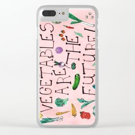 The Future Is Veg Clear iPhone Case