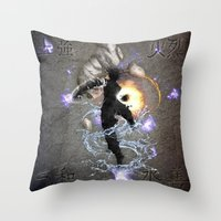 avatar Throw Pillows featuring The Avatar by Toronto Sol