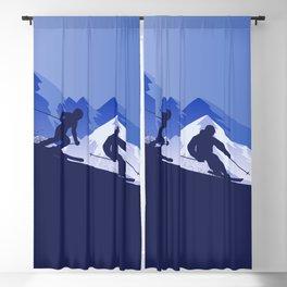 Skiing Winter Sport on Demand Sale Design 2 Blackout Curtain