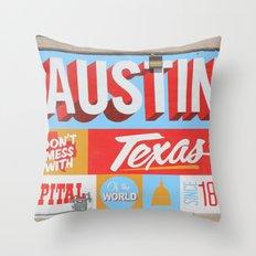 Austin, TX Throw Pillow