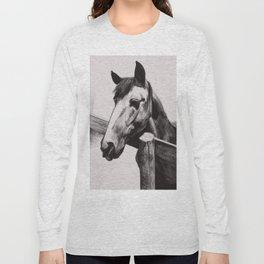 Horse Greeting A Stranger Long Sleeve T-shirt