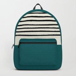 Dark Turquoise & Stripes Backpack