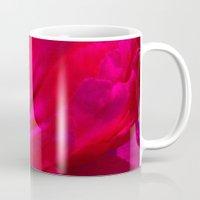 peony Mugs featuring Peony by Christine Belanger