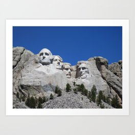 Mount Rushmore Art Print