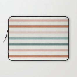 sunset stripes in terra cotta and jade Laptop Sleeve