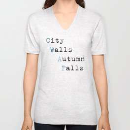 City Walls Autumn Falls Baby Onsie Unisex V-Neck