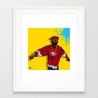 49ers Framed Art Prints featuring 49ERS PAC by Mike Farhat Art Mobb