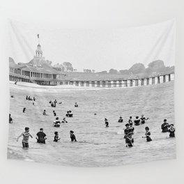 1895 Narragansett Pier and Beach, Narragansett, Rhode Island Wall Tapestry