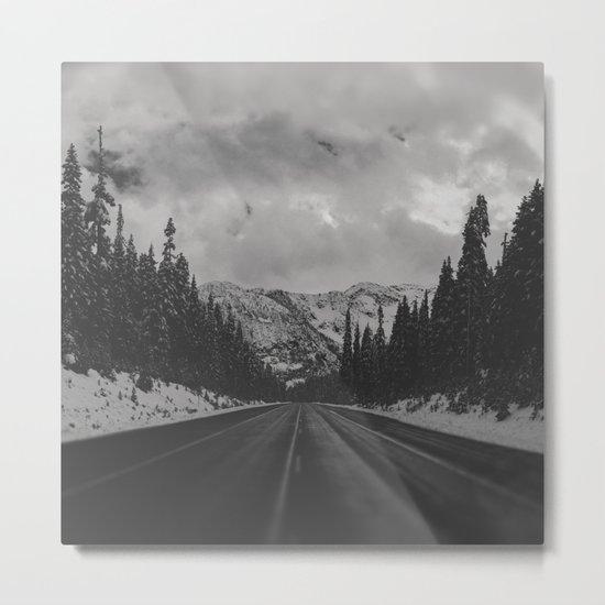 December Road Trip in the Pacific Northwest Metal Print