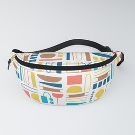 Egyptian pictograms pattern design_01 Fanny Pack