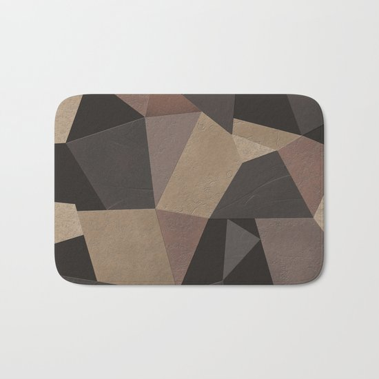 Brown pattern . Leather patches . Bath Mat