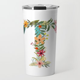 Monogram Letter T Travel Mug