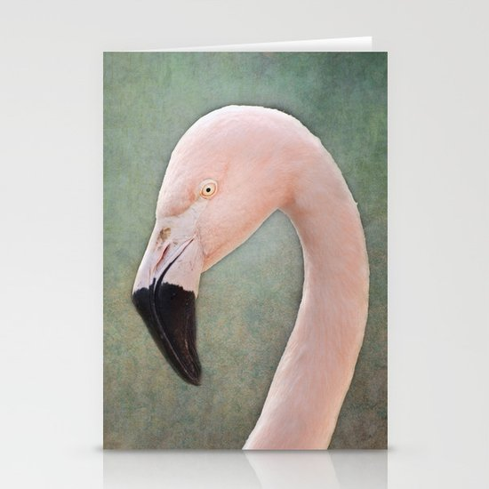 The solitary Flamingo Stationery Cards